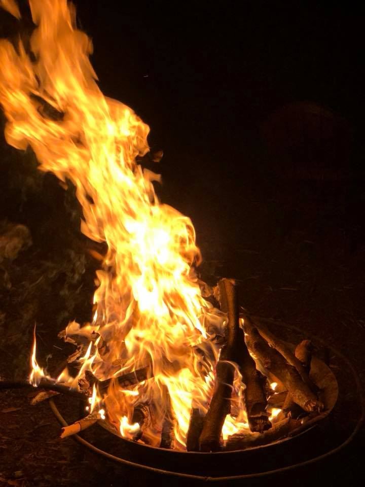 6 Guests can enjoy a bonfire on the farms picnic and barbecue grounds. - Prescription for wellness led brothers to start farming